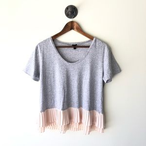J. Crew t-shirt with cute pleated bottom size s